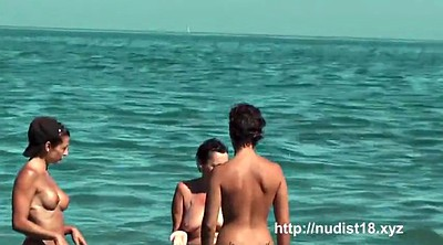 Movie, Beach, Movies, Nudism, Big butt, Public flash