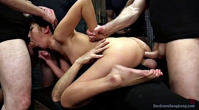 Hairy, Japanese interracial, Japanese group, Japanese gangbang