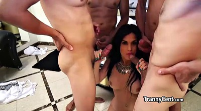 Shemale group, Shemale gangbang, Beautiful shemale, Beauty gangbang