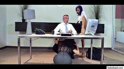 Office, Reid, Teen gang bang, Riley, Lana rhoades