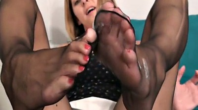 Nylon, Nylon footjob, Nylon feet