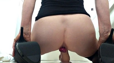 Squirting, Dildo squirt, Deep dildo, Riding squirt, From behind, Over