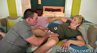 Grandma, Grannies, Grandma blowjob, Cream, Mature busty, Grandmas