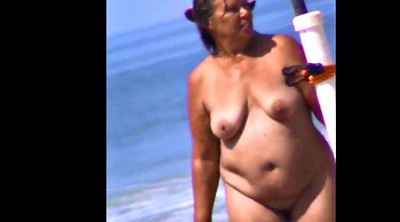 Saggy, Spy, Voyeur beach, Beach voyeur, Spy milf, Huge nipples