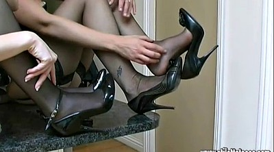 Nylon foot, Shoes, Nylons, Nylon cock, High-heeled shoes
