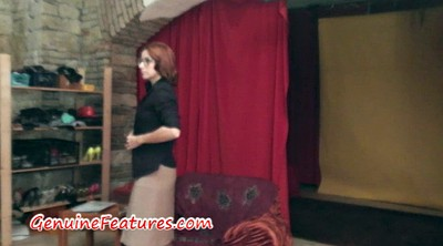 Behind the scenes, Backstage, Casting amateur, Behind-the-scenes, Behind scenes, Casting redhead