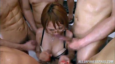 Asian gangbang, Asian pantyhose, Asian bukkake