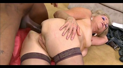 Granny, Granny anal, Take, Granny interracial