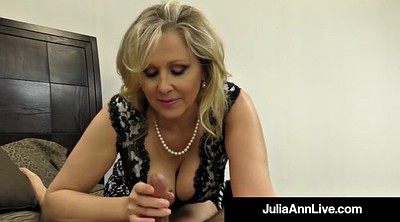Julia ann, Hot mature, Hand, Mature feet