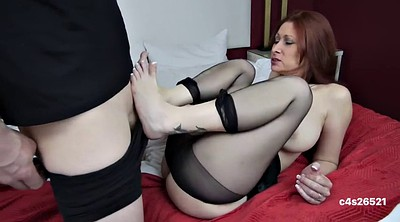 Footjob, Mom footjob, Mom blowjob
