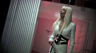 Latex, Mistress, Whipped, Blonde milf