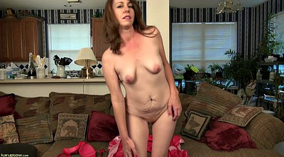 Red milf, Hairy masturbation mature