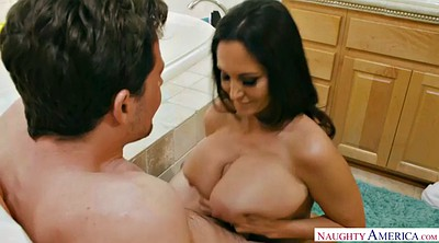 Bathroom, Ava addams, Busty milf, Peek, Mature brunette, Mature bathroom