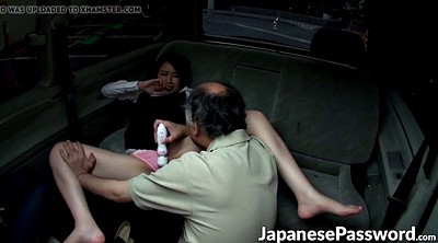Japanese mature, Car sex, Mature blowjob
