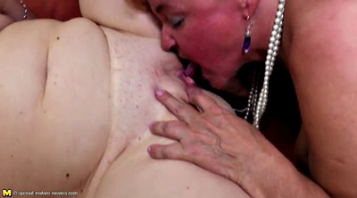 Foursome, Young lesbian, Old mature
