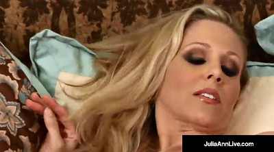 Julia ann, Strip, Anne, Mature orgasm, Mature pantyhose