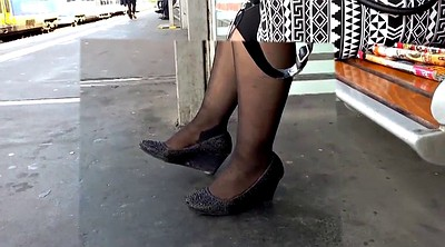 Heels, Stocking foot, Mature heel, Stockings foot, Mature foot, Heels mature