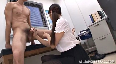 Skirt, Panty, Panty handjob, Office asian