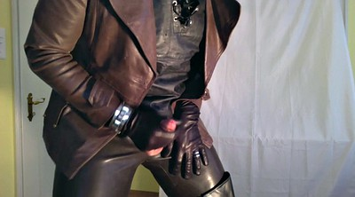 Leather, Gay black, Ebony shemale