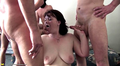 Mature gangbang, Granny gangbang, Group old, Young sex, Young mature, Old cock