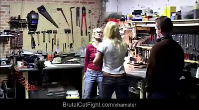 Catfight, Spanking hard, Work, Fighting