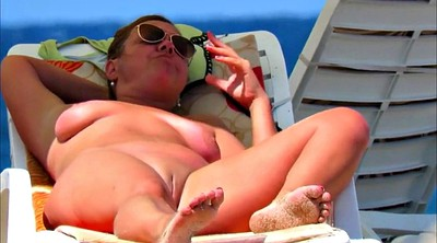 Mom, Beach, Huge bbw, Bbw mom, Huge boob, Granny mom