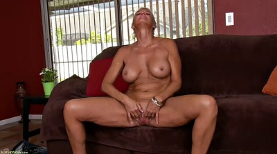 Dildo, Milf solo, Shorts, Mature pussy