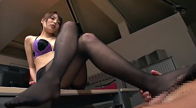Asian office, Asian pantyhose