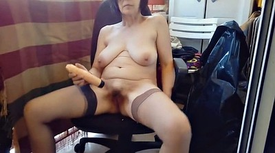 Hairy mature, Balcony, Exhibitionist