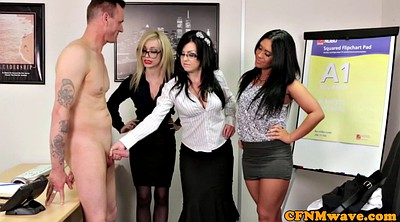 Femdom handjobs, Sucking, Officer, Office sex, Cfnm handjobs