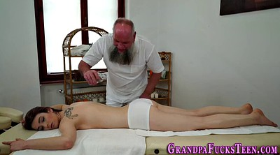 Oiled, Massage granny