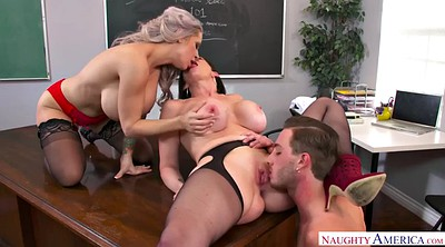 Cougar, Sara, Face sitting, Jay, Chubby threesome, Big tits threesome