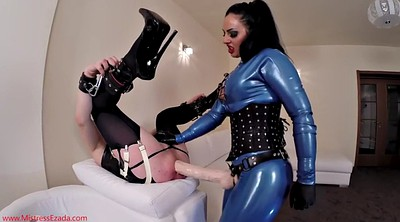 Big cock, Slave, Mistress slave, Anal latex