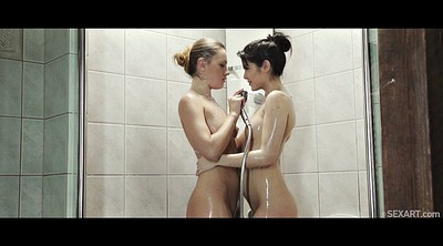 Big clit, Lesbo, In shower
