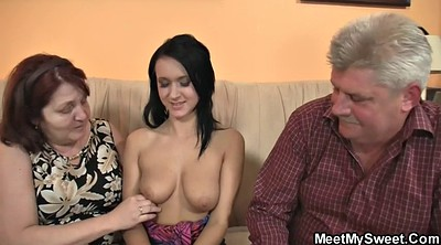 Young old, Mature threesome, Granny threesome
