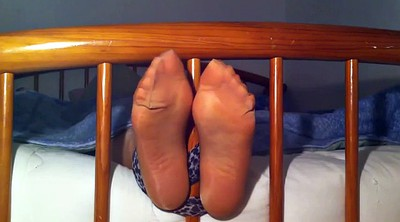 Tickle, Tickling, Nylons feet, Nylon feet, Tickling feet, Tickling nylon