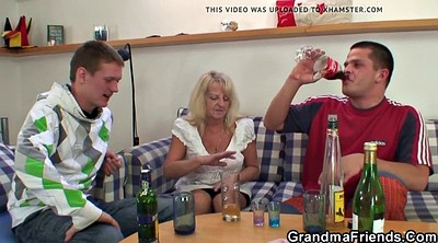 Grandma, Granny threesome, Young blonde, Threesome mature, Old mature, Old young threesome