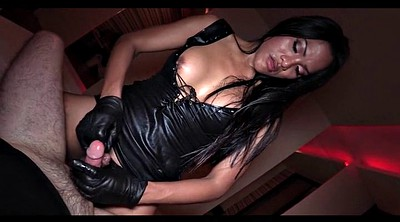 Gloves, Glove, Black shemale, Gloves handjob, Glove handjob