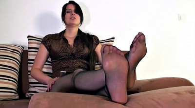 Nylon, Mother, Nylon foot, Nylon feet, Step mother, Cum on feet
