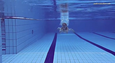 Solo girl, Naked, Swim, Underwater, Swimming pool, Swimming