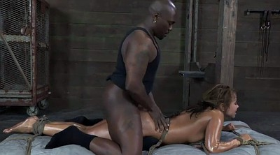 Interracial, Tied tits, Throat fuck