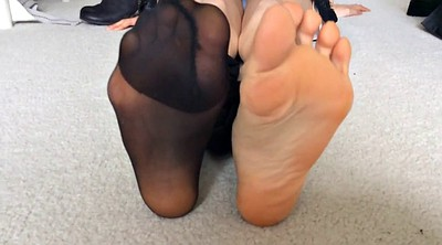 Asian foot, Asian feet, Nylon feet, Nylon foot, Asian nylon, Asian gf