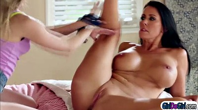 Old and young lesbian, Reagan, Face lick, Lesbian stepmom