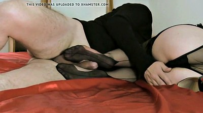 Footjob, Footjob stocking, Stocking footjob, Stocking feet, Black stocking, Stockings footjob