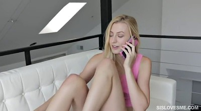 Alexa grace, Phone, Small tit, While on phone, Stepbro, Missionary pov