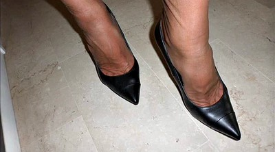 Nylon foot, Nylon feet, Shoes, Feet nylon, Office nylon, Office foot