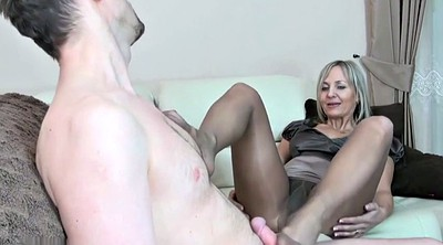 Footjob, Nylon feet, Nylon footjob, Pantyhose footjob