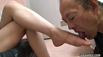 Foot, Japanese femdom, Femdom, Japanese young, Japanese old man