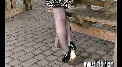 High heels, Shoes, Heels, Walk, Jenna, Milf foot
