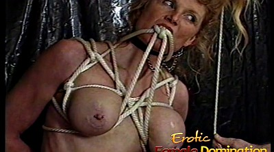 Blonde, Tied up, Tied tits, Kinky, Tit spanking, Bondag
